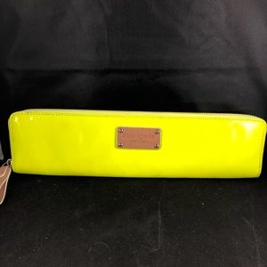 Kate Spade Long Narrow Neon Patent Leather Wallet